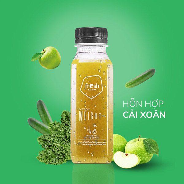 Beauty Drink Hon Hop Cai Xoan Tao Xanh